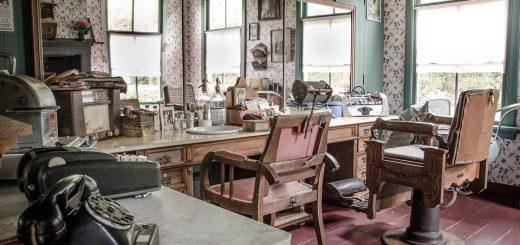 fotele w salonie fryzjerskim
